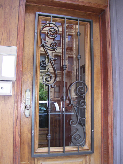 Door Grill with custom scroll