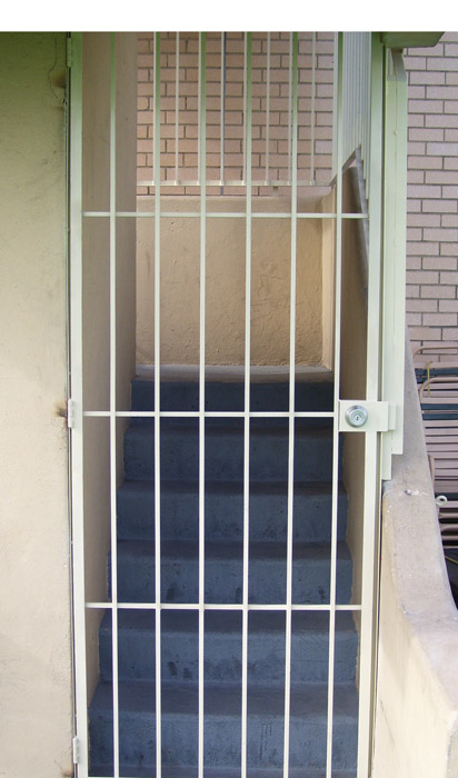 OL gate and stair fence