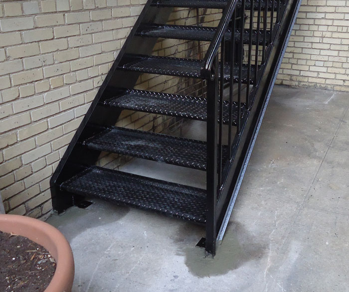 Steel stairs with railing 2
